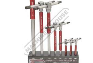 H821 Imperial Hex Key Set with T-Bar Handle 5/64