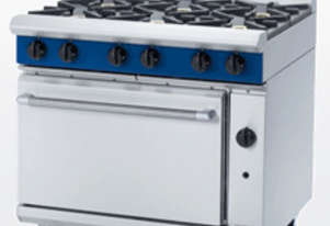 6 BURNER GAS COMMERCIAL RANGE with OVEN Beneath