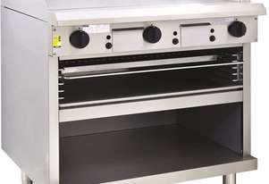 900mm Griddle Toaster with cabinet base and toasting racks