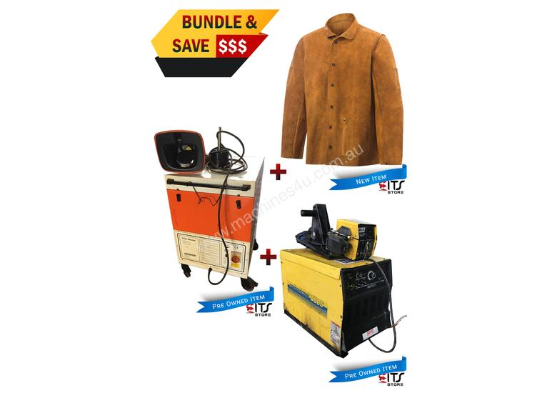 WIA MIG Welder Constructor DC65, Fume Extractor Fan & Leather Welding Jacket