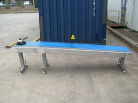 Stainless Motorised Belt Conveyor - 2.9m long - picture0' - Click to enlarge