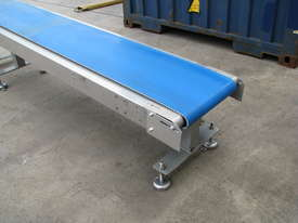 Stainless Motorised Belt Conveyor - 2.9m long - picture1' - Click to enlarge