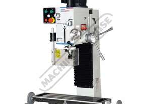 HM-46B Mill Drill - Geared & Tilting Head Table Travel: (X) - 485mm (Y) - 175mm (Z) - 430mm Includes