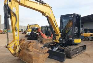 YANMAR VIO55-6 WITH A/C CABIN, HITCH, BUCKETS AND 3750 HOURS