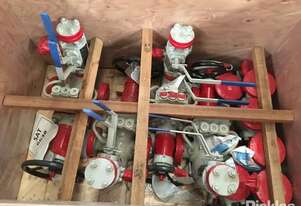 Crate of 4 Check Valves & 1 Gate Valve