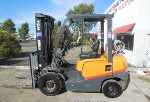 TCM forklift with three stage mast