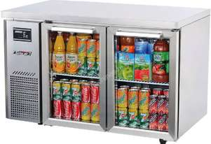 Under Counter Glass Door Refrigerator