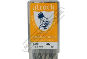 D8161 HSS Jobber Drill Pack - 10 Piece Ø6.5mm Precision Ground Flute & Split Point