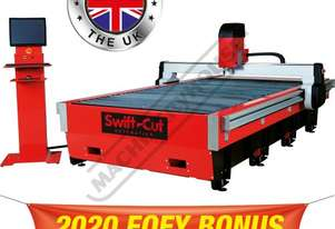 Swiftcut 3000WT MK4 CNC Plasma Cutting Table Water Tray System, Hypertherm Powermax 65 Cuts up to 16