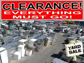 CATERING EQUIPMENT- YARD CLEARANCE SALE - RESTAURA