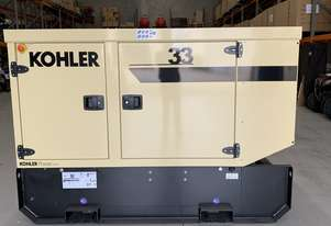 KOHLER 33kVA John Deere Diesel KD33V Generator Enclosed-230L Extended Tank |Made in France|