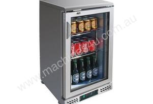 F.E.D. SC148SG Single Door BLACK MAGIC S/Steel Bar Cooler