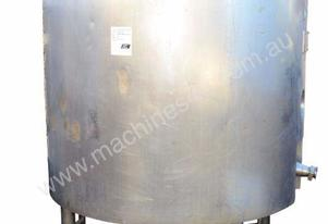 2000L s/s dimple-jacketed tank