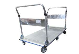 350kg Platform Trolley Foldable Handle Heavy Duty Aluminium