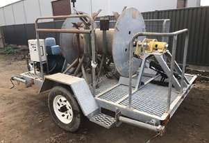 Single Axle Trailer With Retractable Cable Trailer