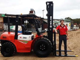 Heli 3000kg 2WD diesel rough terrain forklift  *FREE DELIVERY AUSTRALIA WIDE* - picture0' - Click to enlarge