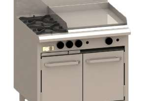 Luus CRO-4B3C 900mm Oven with 4 Burners & 300mm Chargrill Essentials Series