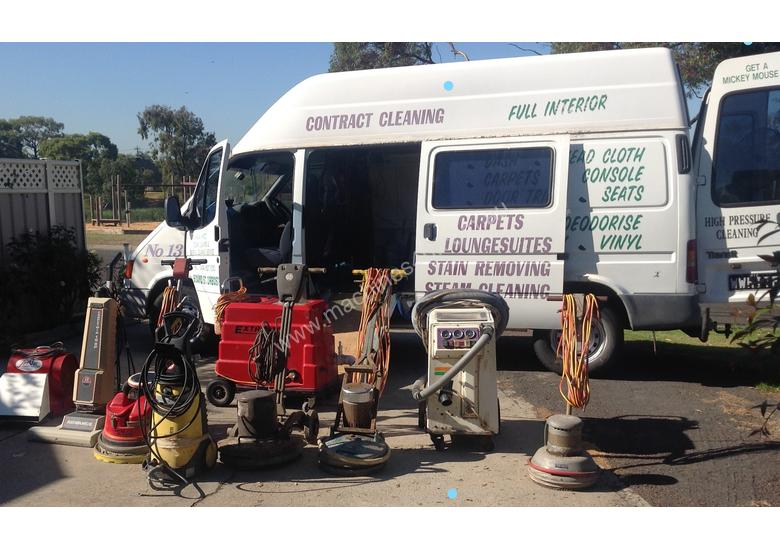 Cleaning equipment and Ford Transit van