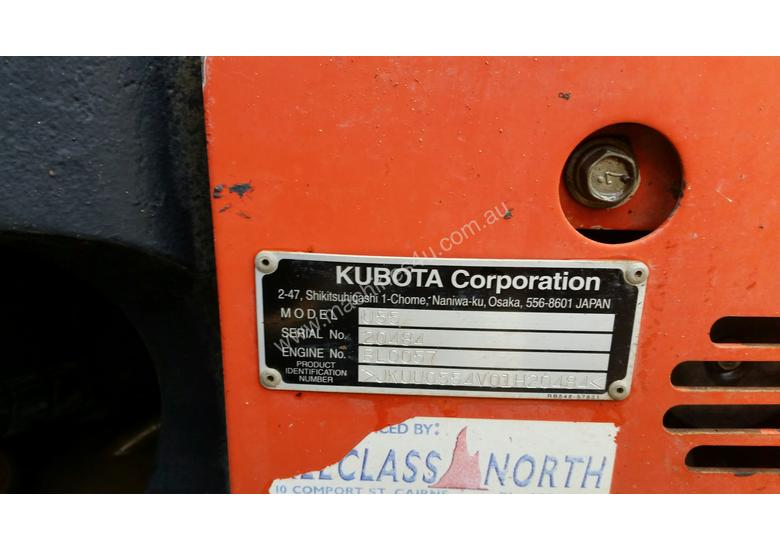 Kubota U55-4 with buckets