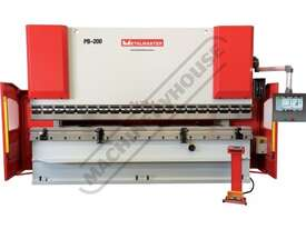 PB-200B Hydraulic CNC Pressbrake 220T x 4000mm CNC Fasfold 202 Control 2-Axis with Hardened Ballscre - picture0' - Click to enlarge