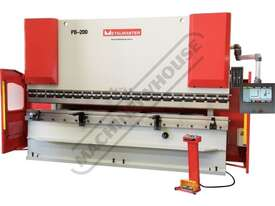 PB-200B Hydraulic CNC Pressbrake 220T x 4000mm CNC Fasfold 202 Control 2-Axis with Hardened Ballscre - picture2' - Click to enlarge