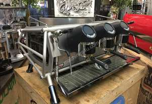 SAN REMO CAFE RACER 3 GROUP ESPRESSO COFFEE MACHINE NAKED STEEL BLACK CAFE