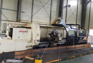255mm Bore Hwacheon MEGA 100x5000 CNC Lathe