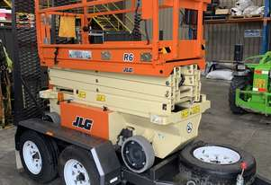 Used JLG R6 - 19ft Electric Scissor Lift with Steel Trailer