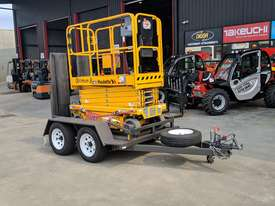 *RENTAL* 8 METER ELECTRIC SCISSOR LIFT(ON TRAILER) - picture2' - Click to enlarge