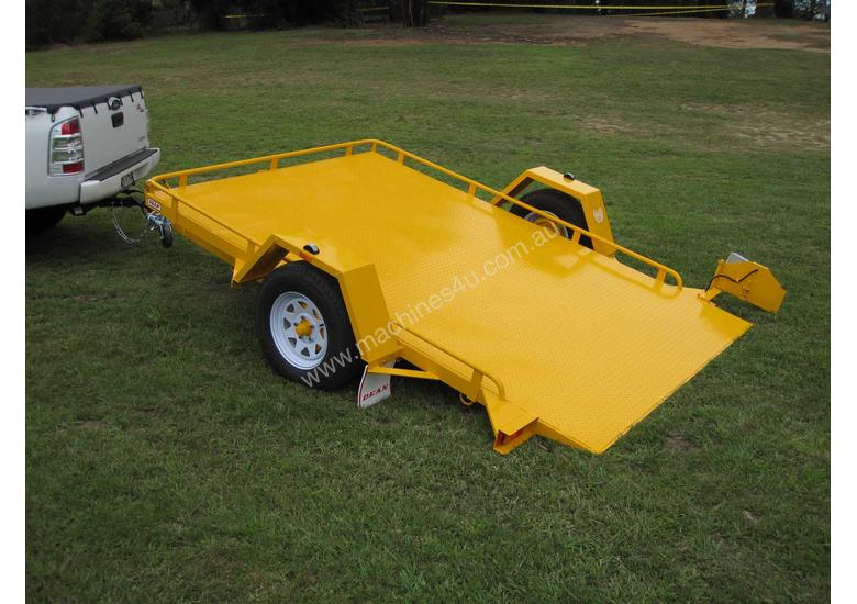 No.19OSW Single Axle Tilt Bed Plant Transport Trailer