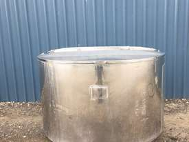 1,350ltr Jacketed Stainless Steel Tank - picture0' - Click to enlarge