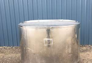1,350ltr Jacketed Stainless Steel Tank, Milk Vat