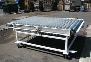 Air Driven Cleated Belt Conveyor - 2.3m long