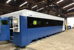 ** 20kW ** New Yawei HLF-2590 high speed, twin pallet fiber laser with 20kW IPG, Siemens CNC & more
