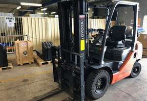 Toyota 2.5 Tonne LPG Container Mast Forklift in good condition
