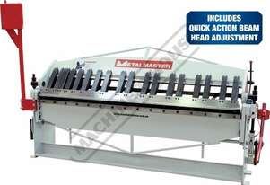 PB-820A Manual Panbrake 2440 x 2mm Mild Steel Bending Capacity Removable Individual Bending Fingers
