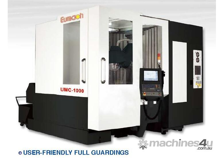 Eumach UMC-1000 Universal 5 axis Milling or Milling & Turning Centres