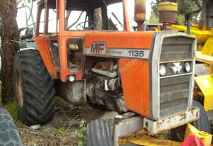 135hp massey , 2 w/d , burnt cabin , starts / runs