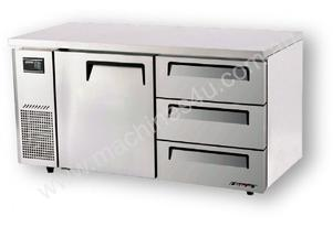 Turbo Air KUF15-3D-3 Drawer Under Counter Side Prep Table Freezer