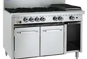 LUUS Gas Oven Range - 4 Burners 300 BBQ and Oven