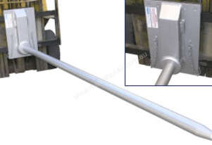 Carriage Mounted Roll Prong 80mm Diameter 2800mm L