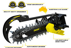 2016 DIGGA BIGFOOT 1500 XD HF TRENCHER ATTACHMENT