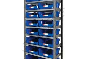 MSR-16 Industrial Modular Shelving Package Deal 943 x 465.4 x 2030mm Includes 16 x BK-420 Plastic Bu
