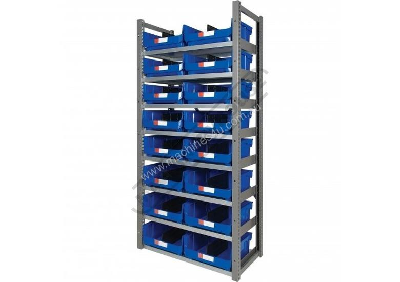 MSR-16 Industrial Modular Storage Shelving Package Deal 943 x 465.4 x 2030mm Includes 16 x BK-420 Pl