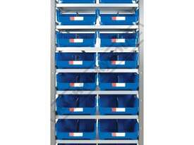 MSR-16 Industrial Modular Storage Shelving Package Deal 943 x 465.4 x 2030mm Includes 16 x BK-420 Pl - picture2' - Click to enlarge