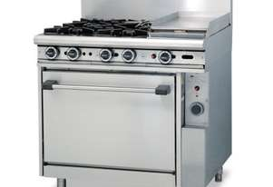 Trueheat 4 Burner Gas Range & Static Oven Natural Gas R90-4-30G