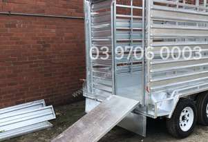 8X5 CATTLE TRAILER 2000ATM CRATE COW LIVESTOCK FARM