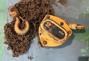 Chain Hoist Block and Tackle 2 ton x 6 mtr Drop PWB Anchor Lifting Crane PWB Anchor