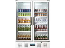 Polar CD984-A - Upright Display Chiller 944Ltr Double Door Fridge - picture2' - Click to enlarge