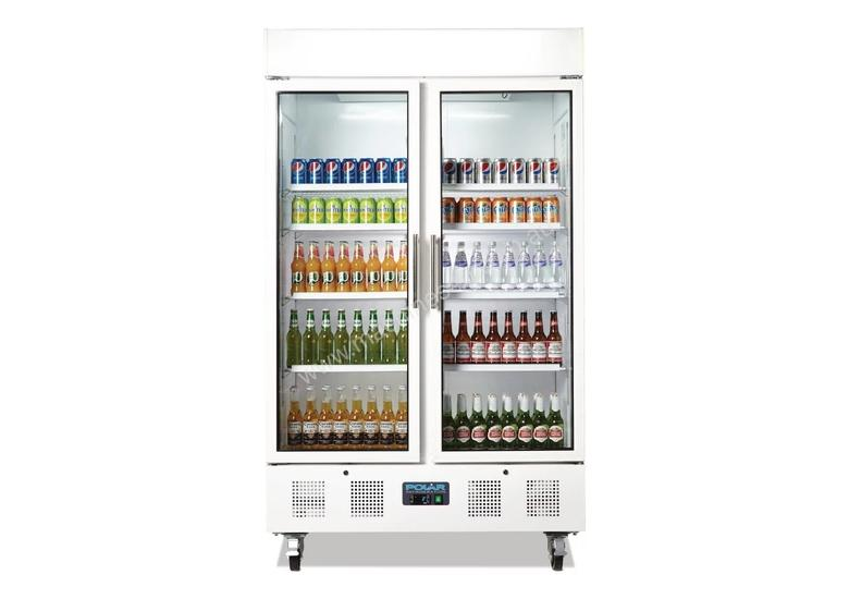 Polar CD984-A - Upright Display Chiller 944Ltr Double Door Fridge